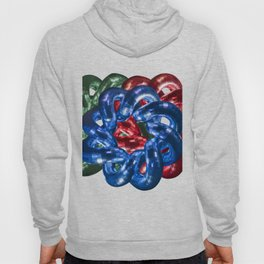Three metal pipes with red, green and blue color Hoody