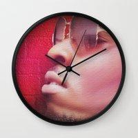model Wall Clocks featuring Model by Azeez Olayinka Gloriousclick