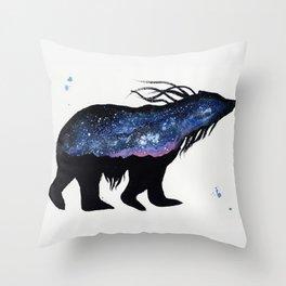 Milky Way Bear Throw Pillow