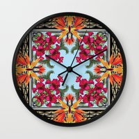 givenchy Wall Clocks featuring Givenchy Print by I Love Decor