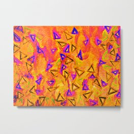 ANALOG zine - TECHNO VIBE 2 Collaboration Piece, Bold Colorful Abstract Watercolor Painting Music Metal Print