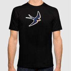 Barn Swallow Black MEDIUM Mens Fitted Tee