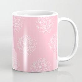 Pink Pastel Peony Pattern Coffee Mug