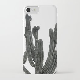 Black and White Cactus iPhone Case