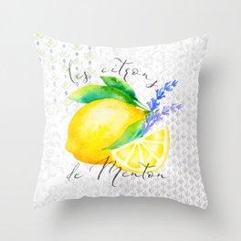 Les Citrons de Menton—Lemons from Menton, Côte d'Azur Throw Pillow