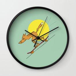 Foxy longboarder Wall Clock