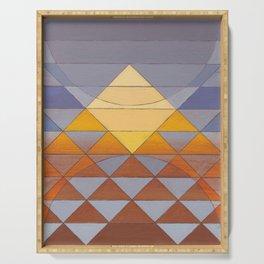 Pyramid Sun Mauve Purple Serving Tray