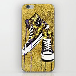Animal Print Tennis Shoes Take a Walk On The Wild Side iPhone Skin