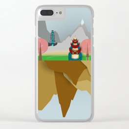 Floating Islands V Clear iPhone Case