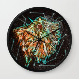 Space lion  Wall Clock
