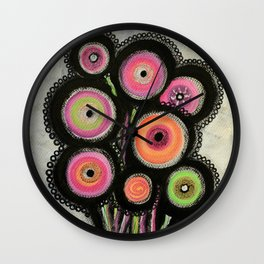 Flowers #1 Wall Clock