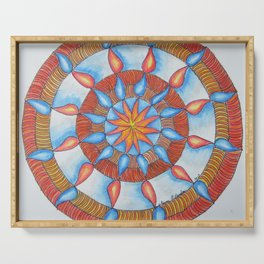 Water and Fire Mandala Serving Tray
