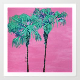 Up in the Palm Trees Art Print
