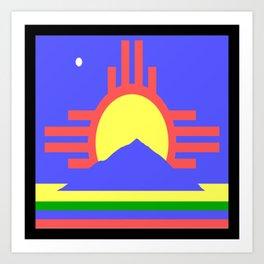 flag of Roswell Art Print