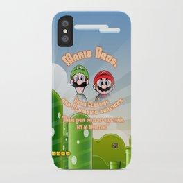 Super Mario Bros. Drain Cleaning & Plumbing Service iPhone Case