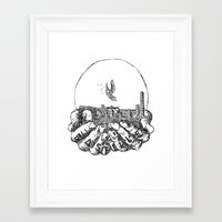 bastille Framed Art Prints featuring Bastille by hardyboys