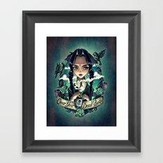 OVER YOUR DEAD BODY Framed Art Print