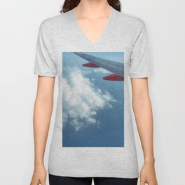 Clouds over the Med Unisex V-Neck
