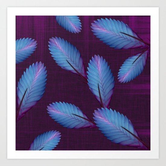 Tillandsia in dark purple Art Print