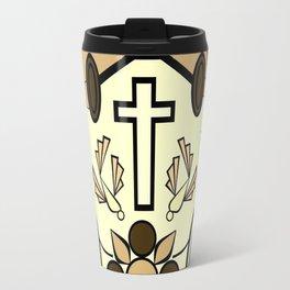 Brown Religion Illustration Travel Mug