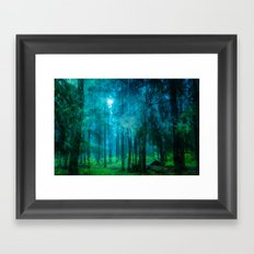 Far from roads #End of the day Framed Art Print