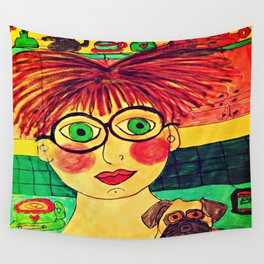 """""""Tallulah and Georgia's Happy Place"""" Wall Tapestry"""