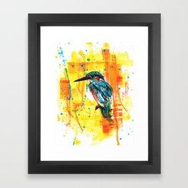 Painting of Kingfisher Framed Art Print
