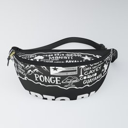 Puerto Rico Map  Fanny Pack
