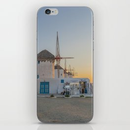 Mykonos Windmills by Pupina iPhone Skin