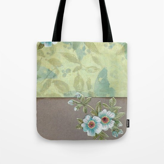 Brown paper flowers Tote Bag