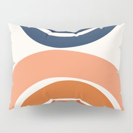 Abstract Shapes 9 in Burnt Orange and Navy Blue Pillow Sham
