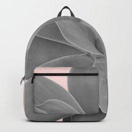 Gray Blush Agave Romance #1 #tropical #decor #art #society6 Backpack
