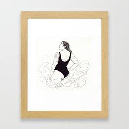 curvey Framed Art Print