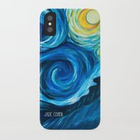 starry night iPhone & iPod Cases featuring Starry Starry Night by Jade Cohen
