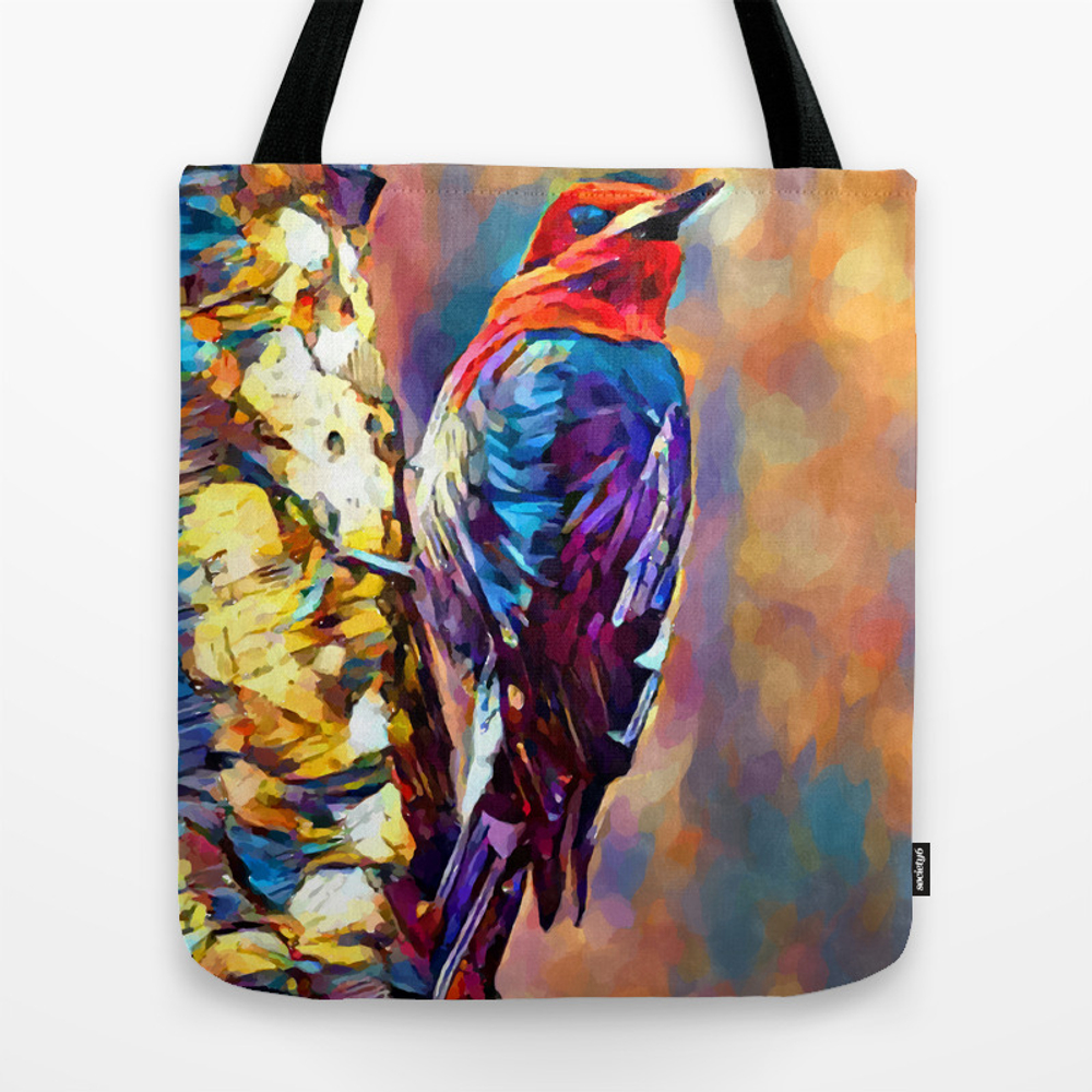 Red-breasted Sapsucker Tote Bag by Shrenk (TBG9010163) photo