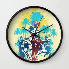 Colors of football Wall Clock