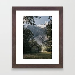 Mountain Cabin - Landscape and Nature Photography Framed Art Print