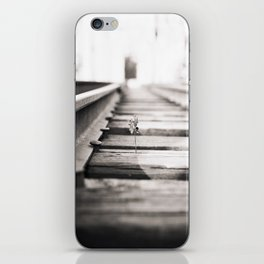 railroad flower  iPhone Skin