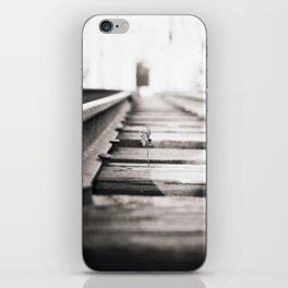 railroad flower  iPhone Skin