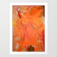 heat - Original Painting by carina schubert Art Print