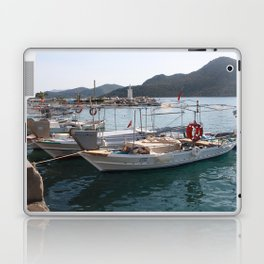 Turkish Fishing Boats Moored at Bozburun Laptop & iPad Skin