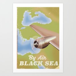The black sea travel poster Art Print