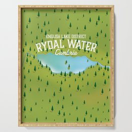 Rydal Water Cumbria Travel map Serving Tray
