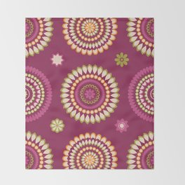 Ethnic Circles Throw Blanket