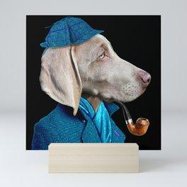 Dog Sherlock Holmes Mini Art Print