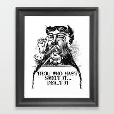 Vintage Thou who hast smelt it, dealt it  Framed Art Print