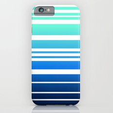 Bay Ombre Stripe: Mint Navy iPhone 6 Slim Case