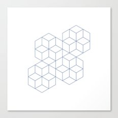 #339 Cubic dance – Geometry Daily Canvas Print