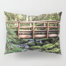 Wanderlust Beauty // Take Me to the Forest Where the Peaceful Waters Flow in the Dense Woods Pillow Sham