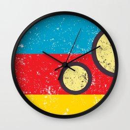 circle and lines Wall Clock